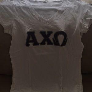 Alpha chi omega sorority v-neck T-shirt
